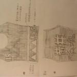 学生の描いたイラスト。「へたでもいい。社会人に思いつけない発想を絵にすることが大事」。