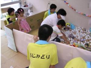 ハートらんどには「ふじみどり宝さがし」の遊び場が出現。子どもが集まりすぎて満員札止めに。