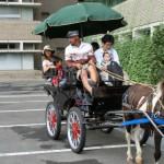 最初、「〜ボクは乗らなくていいよお」と言っていたお父さんも「引きが強いんだね! また乗ろう」。